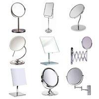 Bathroom Mirror Various Make Up Swivel Flexible Pedestal Tabletop Wall Chrome