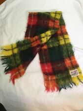 Vintage Glentana Mohair Scarf Multicoloured Beautiful 9x40
