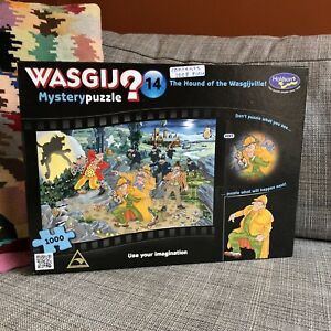 Wasgij Jigsaw Puzzle 1000 Piece Mystery #14 Holdson The Hound of the Wasgijville