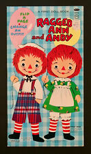 """""""Raggedy Ann And Andy� Flip A Page 1969 Whitman Uncut Paper Dolls Vintage"""