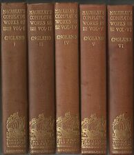 5 of 12 Vols of The Complete Works of Lord Macaulay History of England 1898 HB