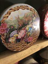 Hershey Chocolate Kisses Bunny and Basket Easter Collectible Tin