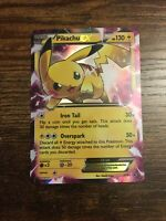 Pikachu EX XY84 Black Star Promo Holo Rare Pokemon Card - Moderate played MP