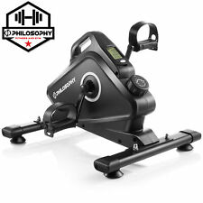 OPEN BOX - Under Desk Mini Pedal Exerciser Bike - Arm and Leg Stationary Cycle