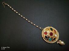 Latest India Bollywood Bridal Fashion Kundan Mang Tikka Ethinic Jewelry Set