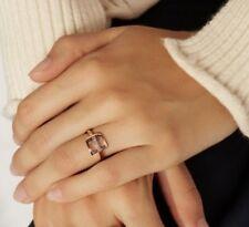 Shinola Detroit Medium Buckle Ring Rose Gold White Diamonds Classic 7 $850 NEW