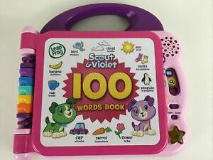 Leap Frog Scout & Violet 100 Words Book Electronic Learning Toy Educational 2018