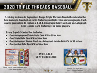 2020 Topps Triple Threads Baseball Hobby Live Random Player 1 Box Break #2
