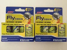 2 Pks Of PIC Fly Paper Ribbon Insect Catcher Sticky Bee Wasp Bug Pest Trap