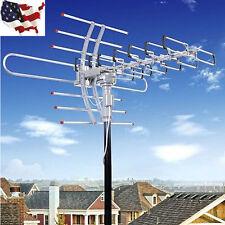 Outdoor 1080P Amplified Antenna Digital HD TV 180M 360 Rotor UHF/VHF/FM HDTV@