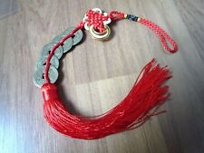 5 Coins Feng Shui Chinese Lucky Wealth Red Thread Endless Fortune Prosperity