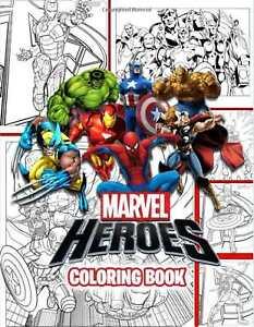 Marvel Super Hero Adult Colouring Book Comic Avengers X Men Captain America