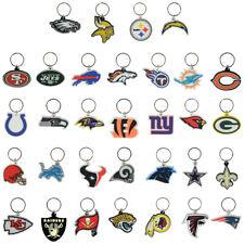 NFL FOOTBALL TEAM DECAL LOGO SOFT PVC KEYRING, KEYCHAIN 32 TEAMS SUPER BOWL KEY