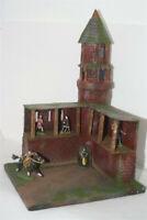 Mittelalter, Wehrturm Eck Modul Raltas, auf Base 3129, zu 7cm Ritter Sammelfigur