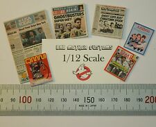 Ghostbusters 1/12 scale Magazines (six) from Movie Montage - magazines open!