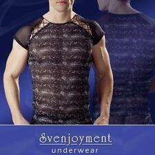 Svenjoyment Muskelshirt Hemd T-Shirt Elastisch Figur betont Reptil-Look in L