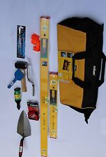 """STABILA-96-2  LEVEL + ALL* BEST  BRICKLAYING TOOLS* WITH ROLSON 24"""" BEST BAG"""