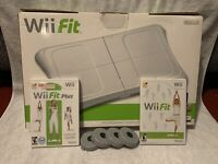 Wii Fit Balance Board With Wii Fit and Wii Fit plus w/ game manuals TESTED.