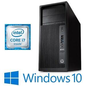 HP Z240 Tower Workstation Intel Core i7 7700 16G 256G NVMe SSD DVDRW Win 10 Pro