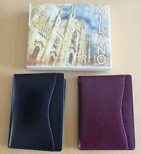 Excellent Quality Italian Leather Credit Card Holder New & Boxed Black or Cherry