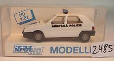 Igra / Rietze 1/87 627 Skoda Favorit Limousine Polizei Policie Prag OVP #2485