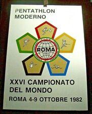 Pentathlon Moderno XXVI° CAMPIONATO DEL MONDO 1982 ROMA - TARGA IN ARGENTO