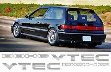 X2 Honda Civic Tr VTEC côté autocollant stickers CRX EG VTi SiR EK
