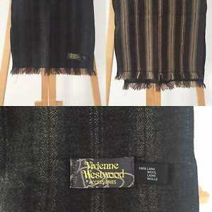 VIVIENNE WESTWOOD Brown And Beige Wool Scarf Good Condition