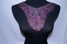 New listing Pink Beaded Sequin Applique #88 Sew On Patch for Bridal Dress Costume Dancewear