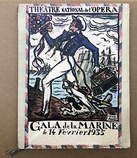 Programme Gala de la Marine Opéra 1935 Guy Arnoux Albert Sébille Gustave Alaux