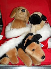 New Christmas Critters By Russ 6 Kinds Brown Bull Dog or Daschound or Sheppard