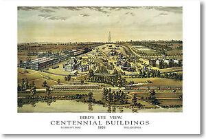 Philadelphia Centennial Buildings 1876 ART Print POSTER