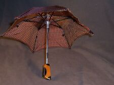 SALESMAN SAMPLE MINITURE UMBRELLA, PARASOL W/ BAKELITE HANDLE ANTIQUE  VINTAGE