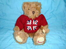 Harrods Knightsbridge Plush Teddy Bear red knit sweater