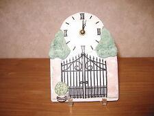 *NEW* Horloge en grès décoré 18x14cm