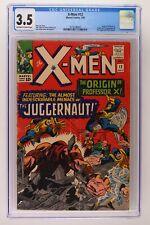 X-Men #12 - Marvel 1965 CGC 3.5 Origin Prof X. Origin & 1st App Juggernaut!