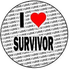 "I Love Survivor - Round 8"" 20cm Icing Cake Topper Decoration - Birthday Event"