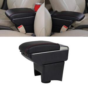 Black Centre Console Armrest Storage Box Fit for VW Polo Mk5/Vento 2010-2017