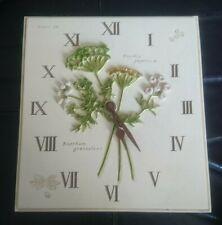 clock plate 39 flowers