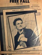 """ANDY SUNDSTROM - """"Free Fall"""" (Piano Solo) VINTAGE SHEET MUSIC AUSTRALIA (M402)"""