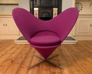 x1 Stunning Vitra Verner Panton Heart Cone Chair Tonus Fabric Vitra rrp £2850