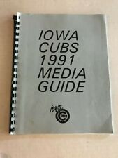 1991 Iowa Cubs Baseball Media Guide in Very Good Condition!