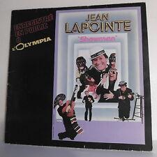 """33 tours Jean LAPOINTE Vinyle LP 12"""" SHOWMAN A L'OLYMPIA Disques COULEUR 11007"""