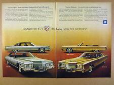 1971 Cadillac Eldorado Convertible Coupe Fleetwood Sixty Sedan deVille print Ad