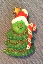 "Vintage Hallmark Cards Christmas Tree Pin Brooch 1981 Candy Cane 2"" tall"