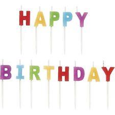 13 Letter Happy Birthday Glitz Party Glitter Moulded Cake Candle Celebration UK