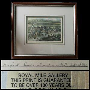 Antique Original Coloured Woodcut Print Royal Infirmary Hospital 1878 Edinburgh