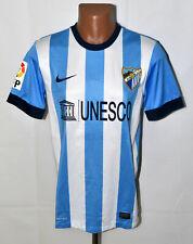 MALAGA SPAIN 2013/2014 HOME FOOTBALL SHIRT JERSEY NIKE SIZE S ADULT