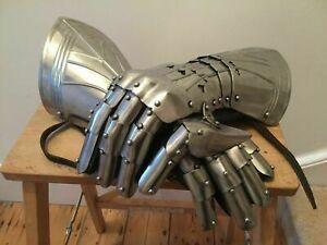 Mittelalterlich Ritter' Stulpen Perfekt Armour Handschuhe für Historische