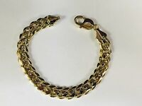 "14k Yellow gold  Miami Cuban Curb Link mens bracelet 7""  58 grams 11.75 MM"